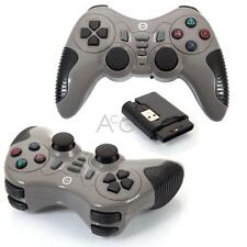 2X Wireless Gamepad Controller Joystick + USB Receiver for PC Gamer Grey