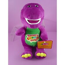 "NEWEST Barney The Dinosaur 11"" Purple Plush Soft Toy Doll Sing I LOVE YOU song"