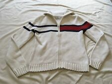 Womens 90s Tommy Hilfiger Sweater Thick Zip Up Large Trendy Cute Indie Urban