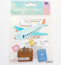 Jolee's Airplane Travel Vintage Luggage Family Vacation Stickers Scrapbooking