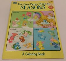 Vtg. UNUSED 1984 CARE BEARS Book of Seasons coloring book - no coloring inside!