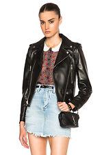 New Lambskin Classic Motorcycle Jacket Moto Biker Top Black Leather Women Sale