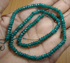 4 1.2 MM FACETED GREEN EMERALD LOOSE BEADS SEMI PRECIOUS GEMSTONE HOT(10.3g.) ..