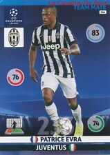146 PATRICE EVRA JUVENTUS FRANCE CARD CHAMPIONS LEAGUE ADRENALYN 2015 PANINI