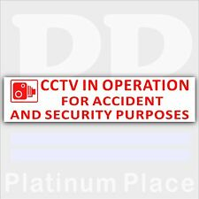 1 x CCTV In Operation for Accident,Security Sticker-Van,Lorry,Car,Taxi Cab Sign