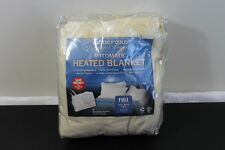 BIDDEFORD Electric Heated Polyester Blanket FULL Cream Analog Control NEW