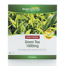 Simply Supplements Green Tea Extract 1000mg 120 Capsules (B514)