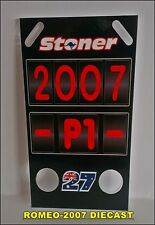 1:12 Pit board - pitboards Casey Stoner World Champion 2007 to minichamps NEW