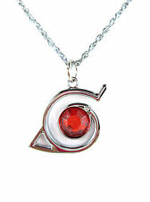 Naruto cosplay Konoha Logo symbol Red Drill Delicate Pendant Necklace