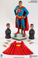 "SIDESHOW SUPERMAN EXCLUSIVE 12"" 1/6 Scale Action Figure DC Comics Universe"