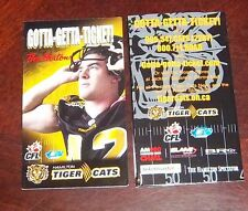 CFL Schedule Hamilton Tiger- Cats pocket schedule 2003