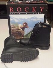 Rocky Cold Weather Safety Boots Steel Toe 4.5 Wide Black Waterproof USGI Vibram
