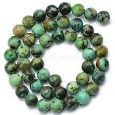 """Natural African Turquoise Gemstone Round Beads 15"""" 8mm"""