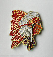 NATIVE AMERICAN INDIAN CHIEF UNITED STATES OF AMERICA USA LAPEL PIN BADGE 1 inch