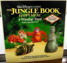 McDonalds Disney The Jungle Book Happy Meal Display Sign 1990 Translite