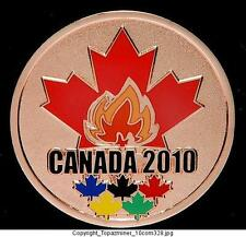 LAPEL PINS 2010 VANCOUVER CANADA BRONZE MEDAL & TORCH