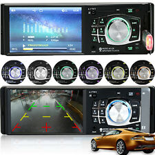 1 Din HD Screen Stereo Car Radio 4.1 inch Bluetooth MP3 MP4 MP5 Player FM Aux