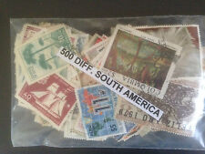 500 Different South America Stamp Collection