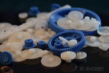 69-teiliges Zahnrad-Set Kunststoff verschiedene Größen, Zahnräder Modellbau RC