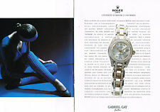 PUBLICITE ADVERTISING 094  1998  ROLEX  montre OYSTER   ( 2p)