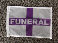 Funeral Flag WHITE-PURPLE new HEARSE Funeral Coach Limo