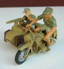 Britains Deetail german ww2 afrika korps bmw motorbike and side car 1970s 1:32