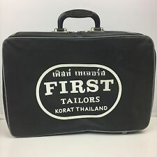 Vintage Wartime First Tailors Korat Thailand Overnight Bag Travel Suit Case