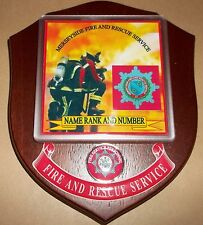 Merseyside Fire and Rescue Service wall plaque personalised free of charge..