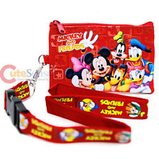 Disney Mickey Mouse and  Friends Lanyard with Coin Wallet Ticket  ID Holder