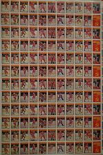1990-91 OPC '90 O-Pee-Chee Central Red Army 6 Full Insert Sets UNCUT Sheet VG
