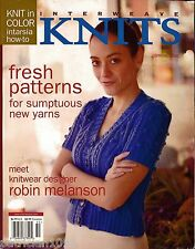 INTERWEAVE KNITS Spring 2006 Hoodie Tote Sweater Jacket Fingerless Mitts