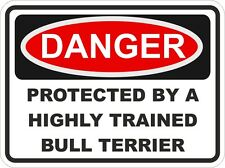 Dog Breed BULL TERRIER Danger Sticker Pet for Bumper Locker Car Door