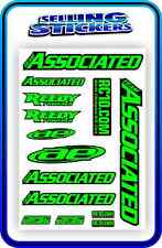 TEAM ASSOCIATED RC STICKER SET DECAL 1/10 1/8 TC7 CAR BUGGY OFF ROAD GREEN BLACK