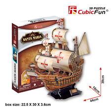 CubicFun 3D Puzzle Paper Model Santa Maria T4008h 113 pieces DIY Jigsaw Toys