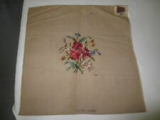"Lady Handicraft PRE-WORKED FLORAL Needlepoint Canvas - 22.5"" x 22.5"""