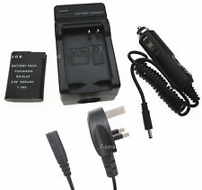 Battery +Charger for Nikon Coolpix P600 P610 P900 P900s S810c Digital Camera
