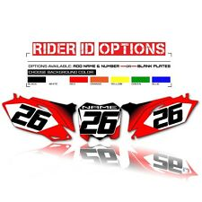 2002-2004 HONDA CRF 450 CUSTOM NUMBER PLATE BACKGROUNDS GRAPHIC MOTOCROSS KIT