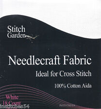 Stitch Garden 18 Count Aida For Cross Stitch White