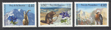 France 1996 Parks/Beaver/Ibex/Bird/Raptor/Flower 3v s90