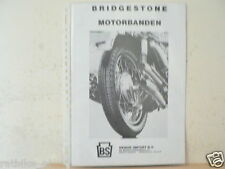 O011 BROCHURE BRIDGESTONE MOTORBANDEN MOTORCYCLE PROSPEKT,FOLDER