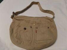 Levi's Tan Corduroy Adjustable Strap Shoulder Floral Inside Bag Purse