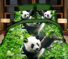 SALE Cute Panda 3D Cotton Blend Duvet Cover Quilt Cover Pillowcase Queen Size O