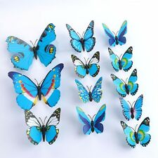 Blue 3D Butterfly Sticker Wall Stickers Art Decal Home Room Decoration Decor G13