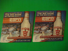 2001 Beer Drink Coaster: SMIRNOFF Vodka Ice ~ Win a ESPN Magazine Big Easy Trip!
