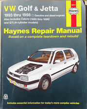 VW Golf & Jetta Haynes Repair Manual 1993 thru 1998 GTI 4-Cylinder Models   1215