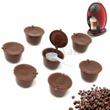 7 pcs Refillable Reusable Coffee Capsules Pods For Dolce Gusto Machines + Spoon