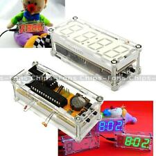 Red DIY kit LED 0.8' Digital Electronic Clock Microcontroller Time Thermometer