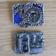 Dragon medieval belt buckle (choice colors)