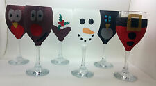 6 GLITTER GLASSES CHRISTMAS DECORATION PARTY TABLE DRINK PRESENT GIFT