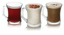 Set Of 6 Glasses Tea Coffee Cappuccino Cups Hot Drink Mugs - All Occasions